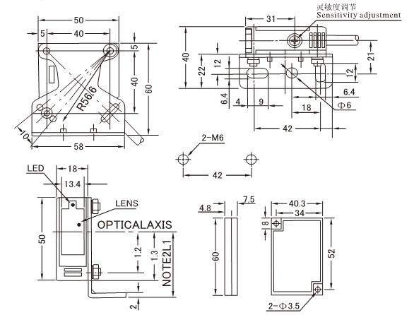 光电开关接线图e3jk-dr12