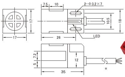 > 接近开关系列 -> 电感式  安装方式 非屏蔽式 型号 直流型 npn no